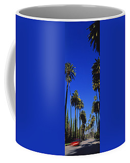 Palm Trees Along A Road, Beverly Hills Coffee Mug