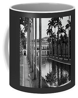 Palm Trees Bordering A Pool Coffee Mug