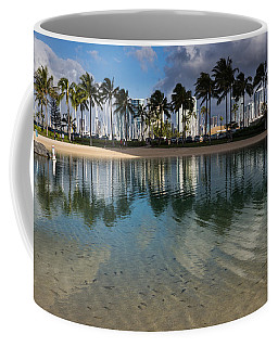 Palm Trees Crystal Clear Lagoon Water And Tropical Fish Coffee Mug