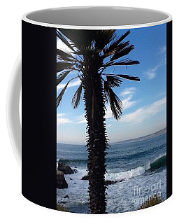 Coffee Mug featuring the photograph Palm Waves by Susan Garren
