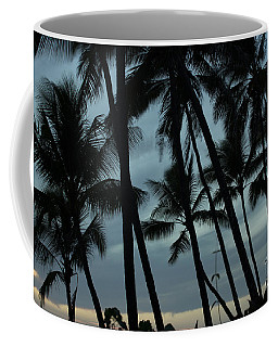 Coffee Mug featuring the photograph Palms At Dusk by Suzanne Luft