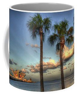 Palms At The Pier Coffee Mug