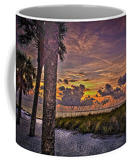 Palms Down To The Beach Coffee Mug