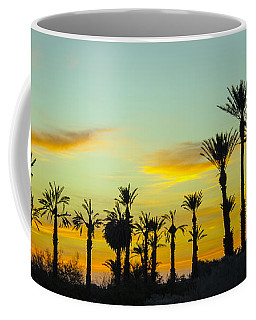 Palm Trees At Dawn Coffee Mug