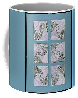 Coffee Mug featuring the mixed media Panes by Ron Davidson