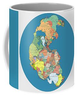 Pangaea Politica By Massimo Pietrobon Coffee Mug