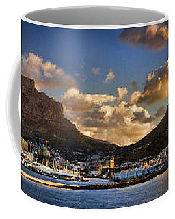 Panorama Cape Town Harbour At Sunset Coffee Mug