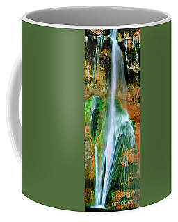 Coffee Mug featuring the photograph Panorama Lower Calf Creek Falls Escalante Nm Utah by Dave Welling