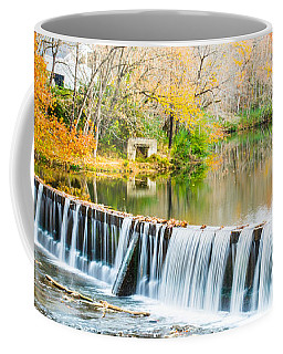 Panorama Of Buck Creek In Autumn Coffee Mug by Parker Cunningham