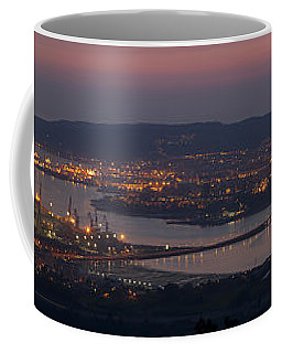 Coffee Mug featuring the photograph Panorama Of Ferrol From Mount Marraxon Galicia Spain by Pablo Avanzini