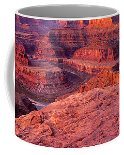 Coffee Mug featuring the photograph Panorama Sunrise At Dead Horse Point Utah by Dave Welling