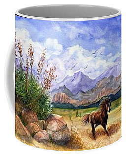 Panorama Triptych Don't Fence Me In  Coffee Mug by Marilyn Smith
