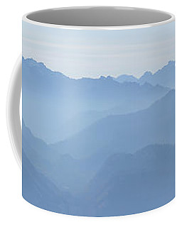 Coffee Mug featuring the photograph Panorama View Of The Bavarian Alps by Rudi Prott