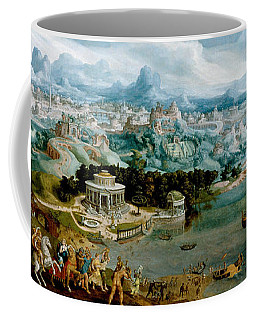 Panorama With The Abduction Of Helen Amidst The Wonders Of The Ancient World Coffee Mug