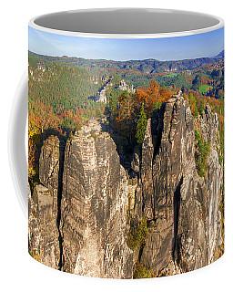 Panoramic Views Of Neurathen Castle Coffee Mug