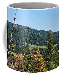 Panoramic Yellowstone Landscape Coffee Mug