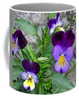 Pansies - Painterly Coffee Mug