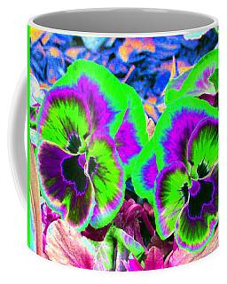 Pansy Power 60 Coffee Mug by Pamela Critchlow