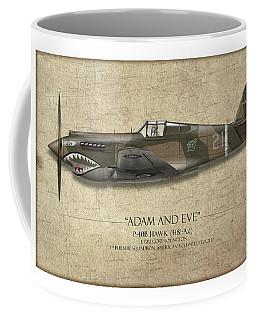 Pappy Boyington P-40 Warhawk - Map Background Coffee Mug