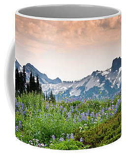 Paradise Meadows And The Tatoosh Range Coffee Mug by Jeff Goulden
