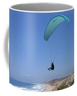 Paraglider Over Sand City Coffee Mug