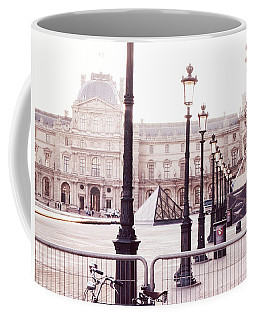 Paris Bicycle Louvre Museum - Paris Bicycle Street Lantern - Paris Bicycle Louvre Museum Street Lamp Coffee Mug