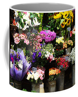 Coffee Mug featuring the photograph Paris Bouquet by Ira Shander
