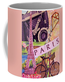 Coffee Mug featuring the drawing Paris  by Eloise Schneider
