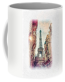 Paris Mon Amour Coffee Mug by Mo T
