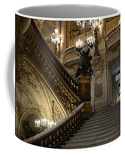 Paris Opera Garnier Grand Staircase - Paris Opera House Architecture Grand Staircase Fine Art Coffee Mug