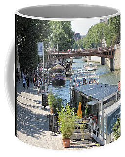 Paris - Seine Scene Coffee Mug by HEVi FineArt