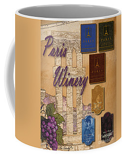 Paris Winery Labels Coffee Mug