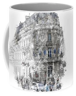 Paris With Flags Coffee Mug