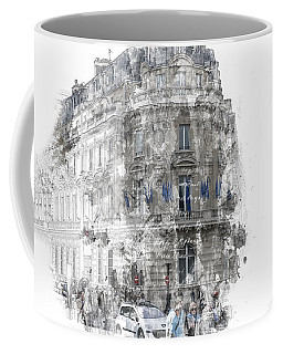 Paris With Flags Coffee Mug