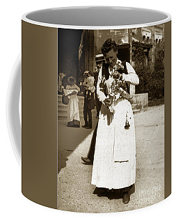 Coffee Mug featuring the photograph Parisian Woman Lady Paris France 1900 Historical Photo by California Views Mr Pat Hathaway Archives