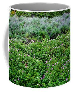 Park Floral Scene Coffee Mug