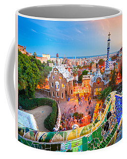 Park Guell In Barcelona - Spain Coffee Mug by Luciano Mortula
