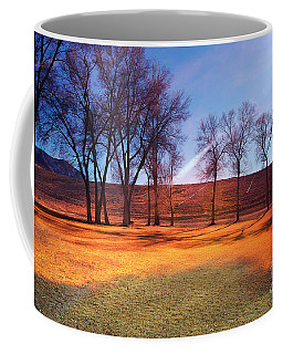 Coffee Mug featuring the photograph Park In Mcgill Near Ely Nv In The Evening Hours by Gunter Nezhoda