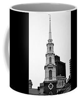 Park Street Church Boston Black And White Coffee Mug