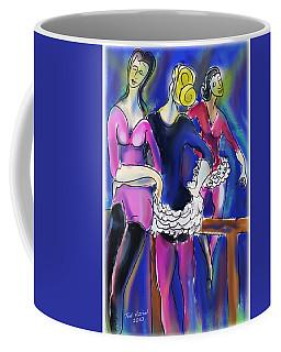 Coffee Mug featuring the painting Pas De Deu by Ted Azriel