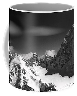 Passing By Snow Capped Mountains Coffee Mug