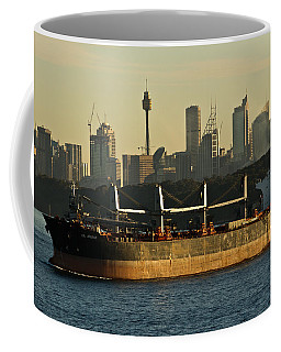 Coffee Mug featuring the photograph Passing Sydney In The Sunset by Miroslava Jurcik