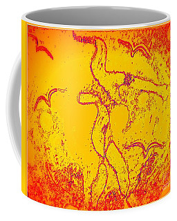 Coffee Mug featuring the painting Passing Through by Leanne Seymour