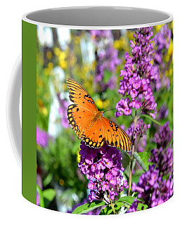 Coffee Mug featuring the photograph Passion Butterfly by Deena Stoddard