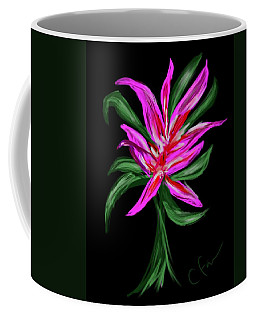 Coffee Mug featuring the digital art Passion Flower by Christine Fournier