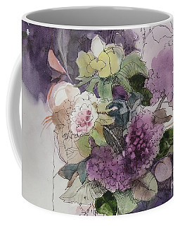 Coffee Mug featuring the painting Passionate About Purple by Elizabeth Carr
