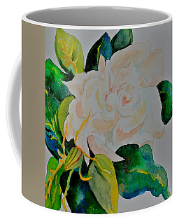 Coffee Mug featuring the painting Passionate Gardenia by Beverley Harper Tinsley