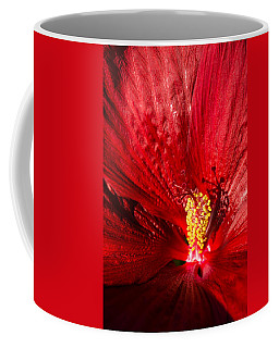 Passionate Ruby Red Silk Coffee Mug by Georgia Mizuleva