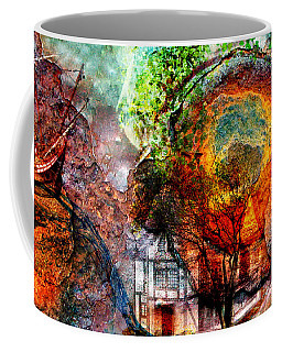 Coffee Mug featuring the mixed media Past Or Future? by Ally  White