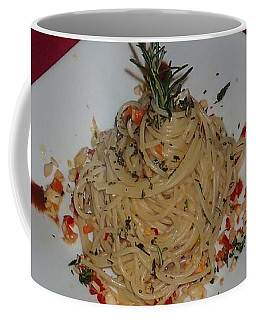 Pasta Coffee Mug by Robert Nickologianis